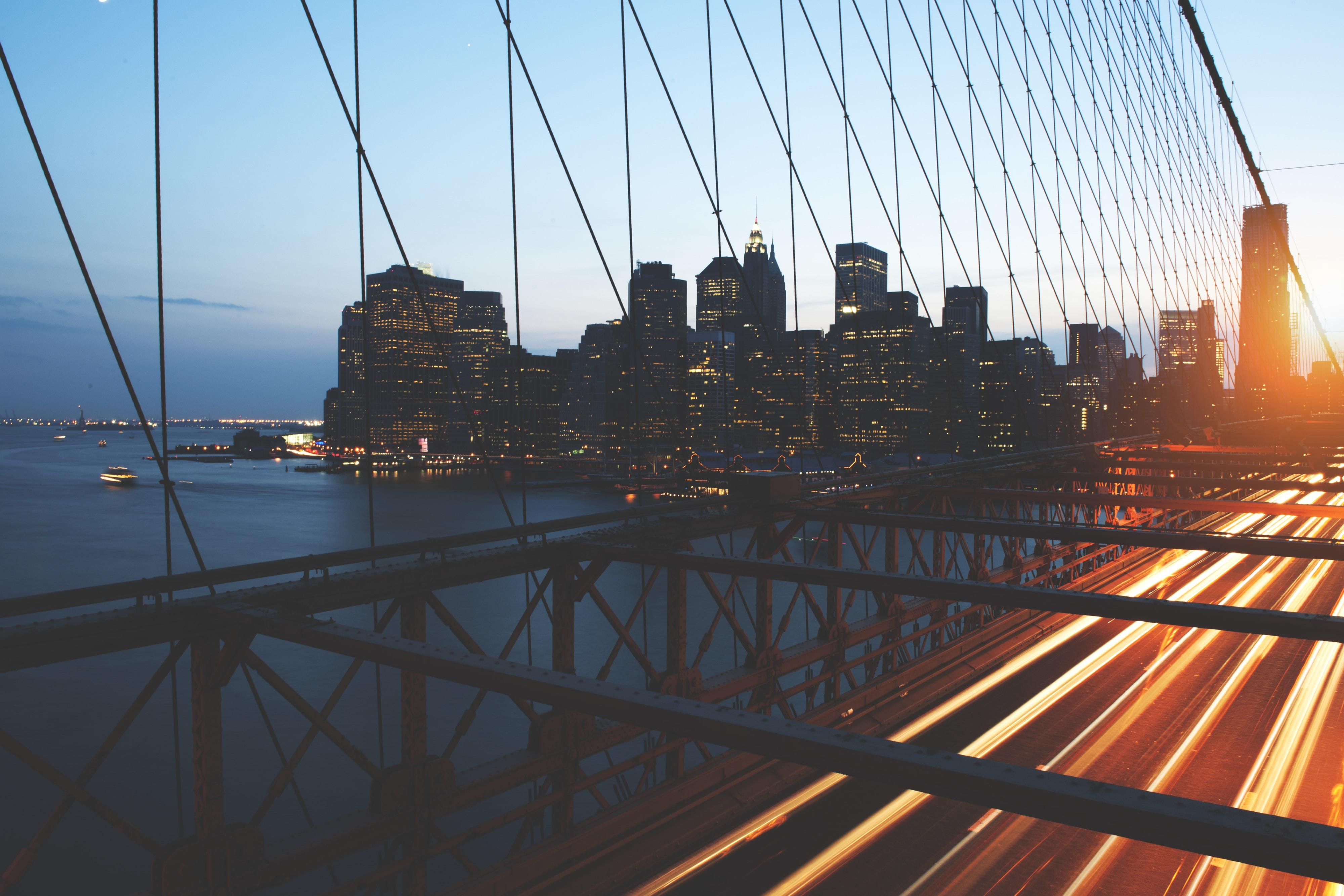 long exposure photography of bridge