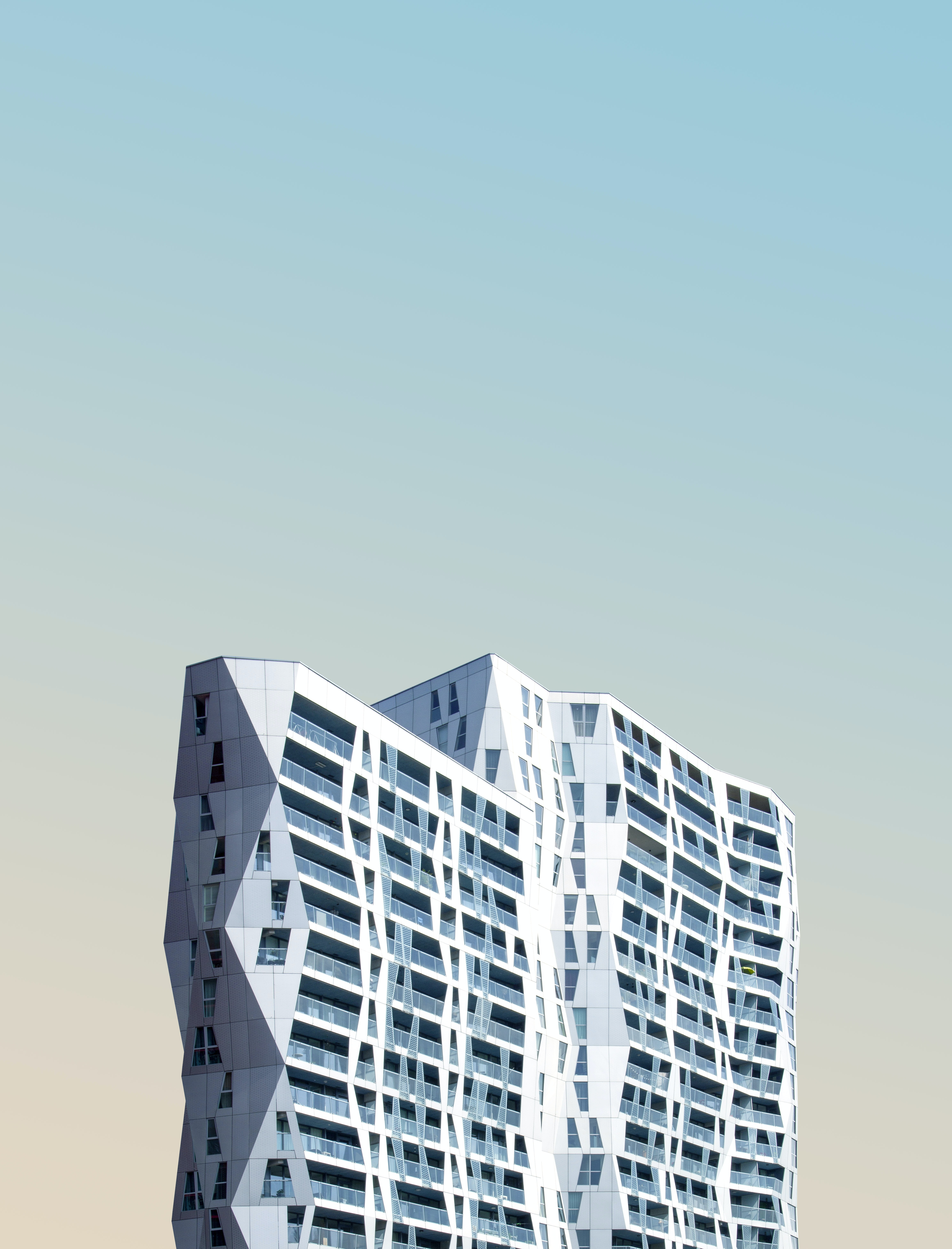 half-view photo of 3D style high-rise building