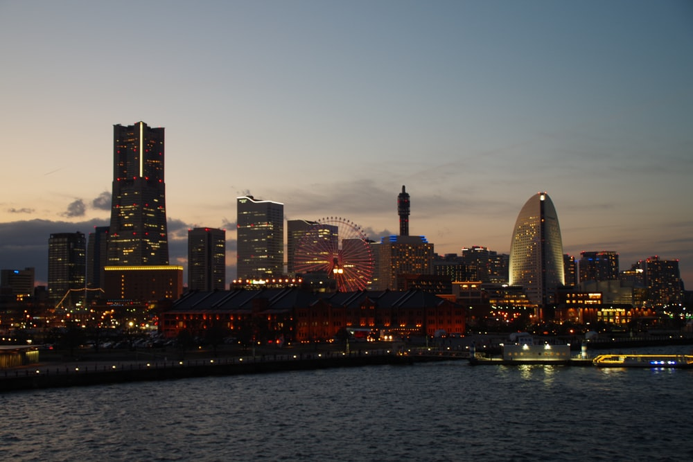 city scape scenery during sunset