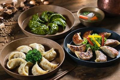 dumpling dishes dumpling teams background