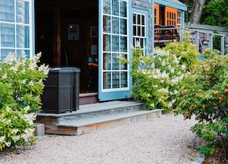 house with opened door