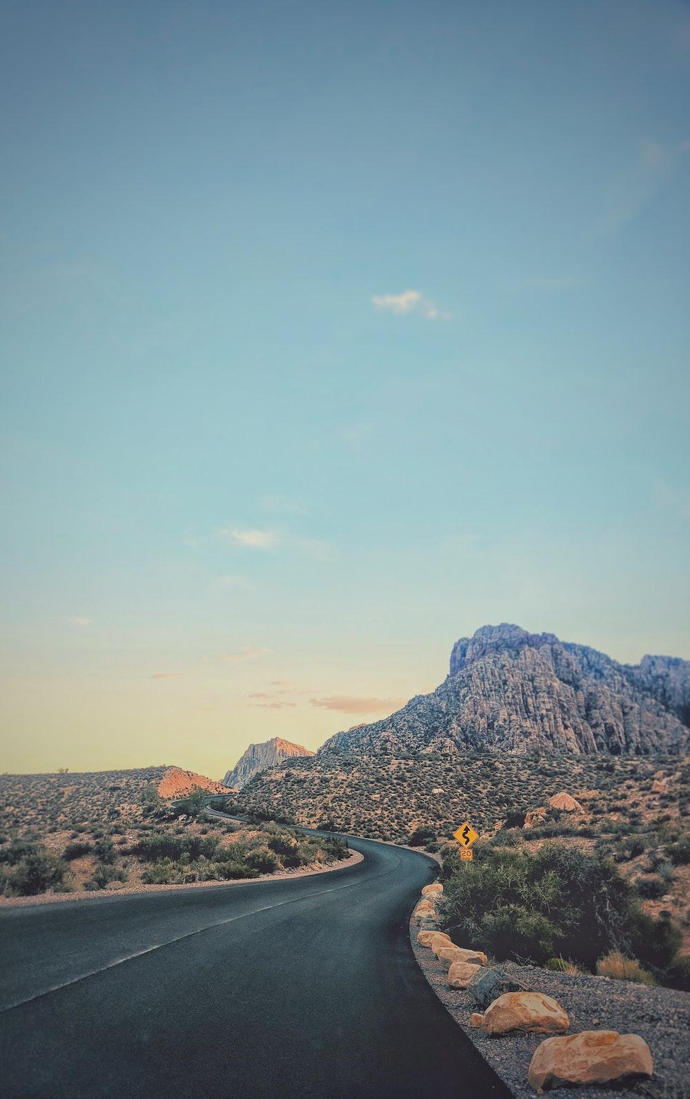 road through mountain