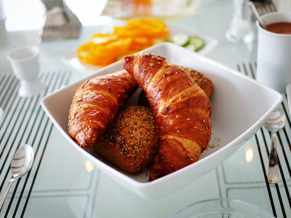 bowl of croissants