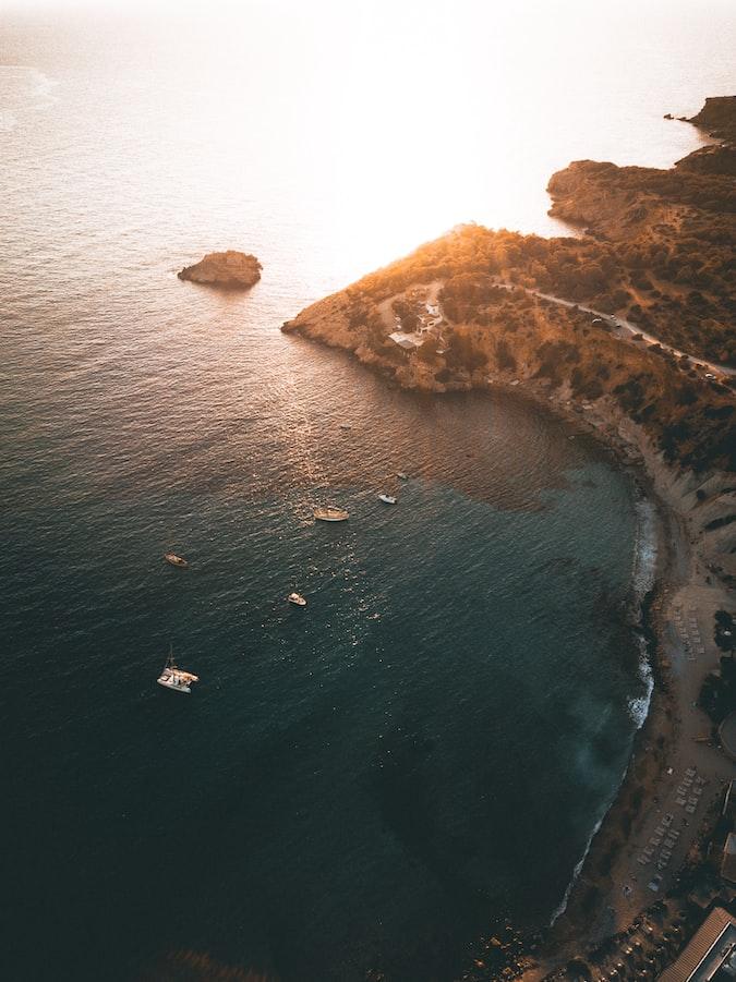 A view of Ibiza Island