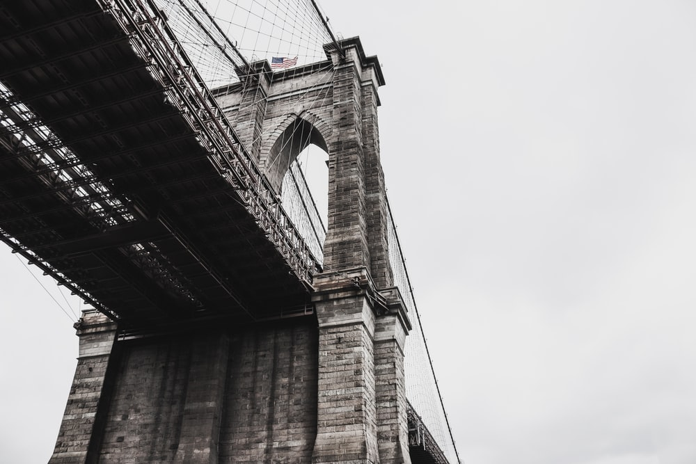 low angle photography of bridge