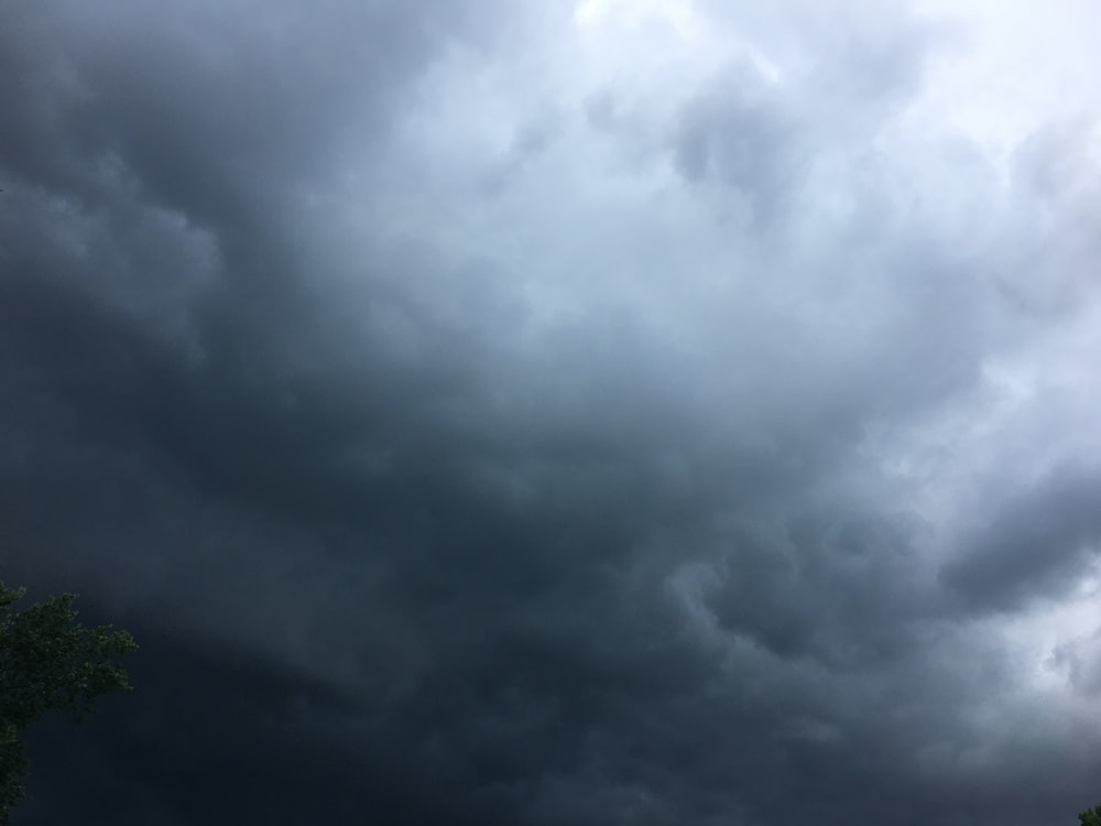 view of dark clouds