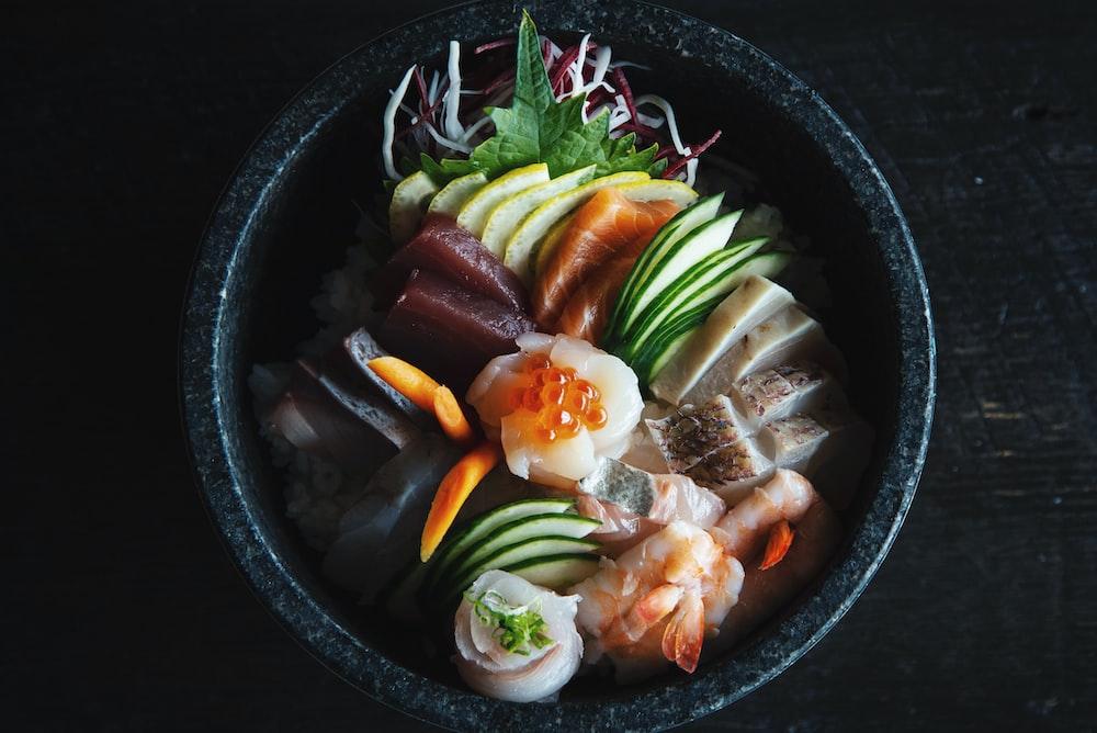 seafood dish filled pot