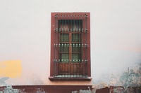 closed window with grills