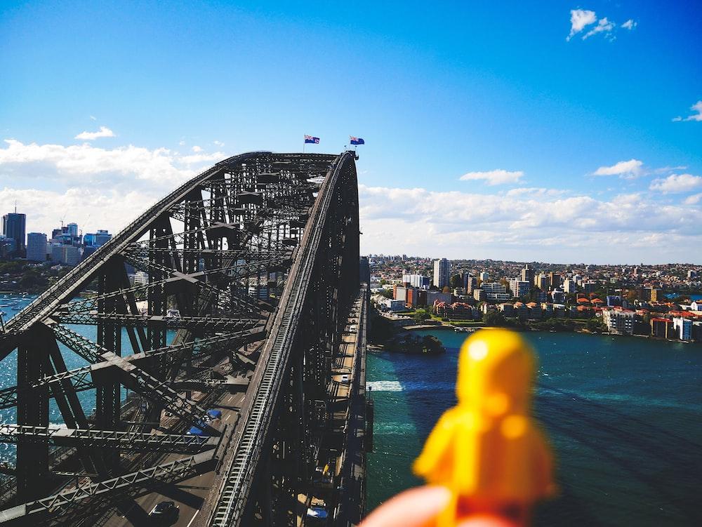 bridge during daytime in landscape photography