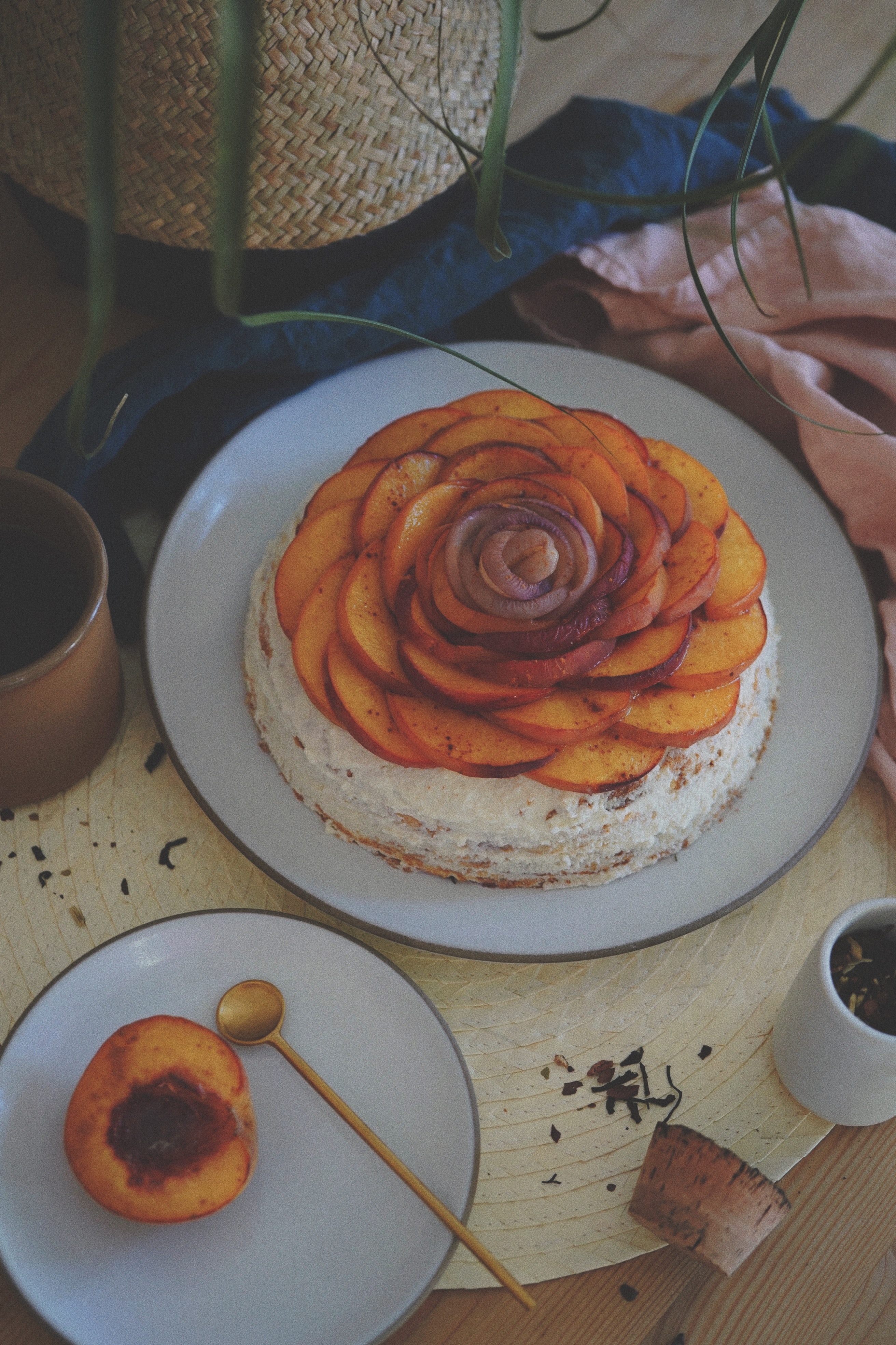 pastry on white ceramic plate