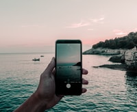 iPhone showing body of water