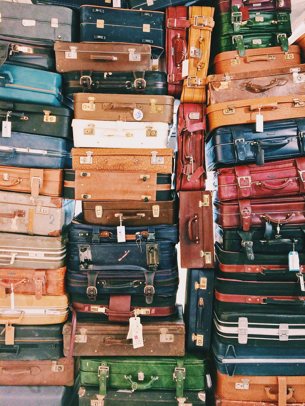 pile of luggages