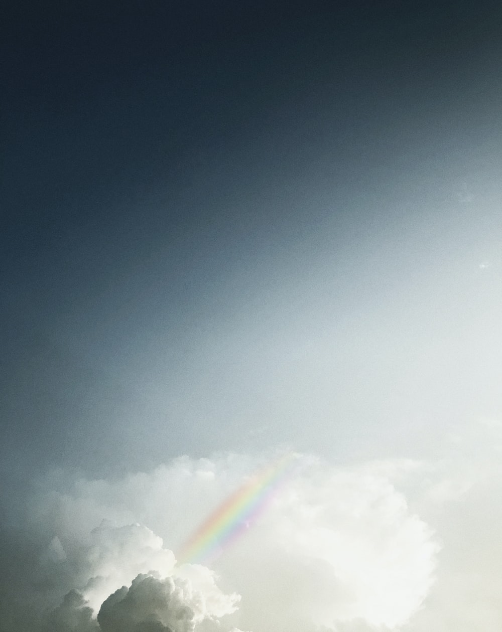 rainbow on clouds