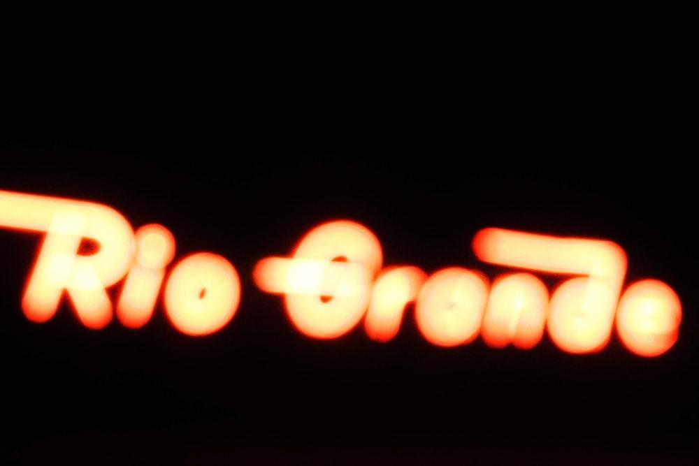 red rio grande neon signage