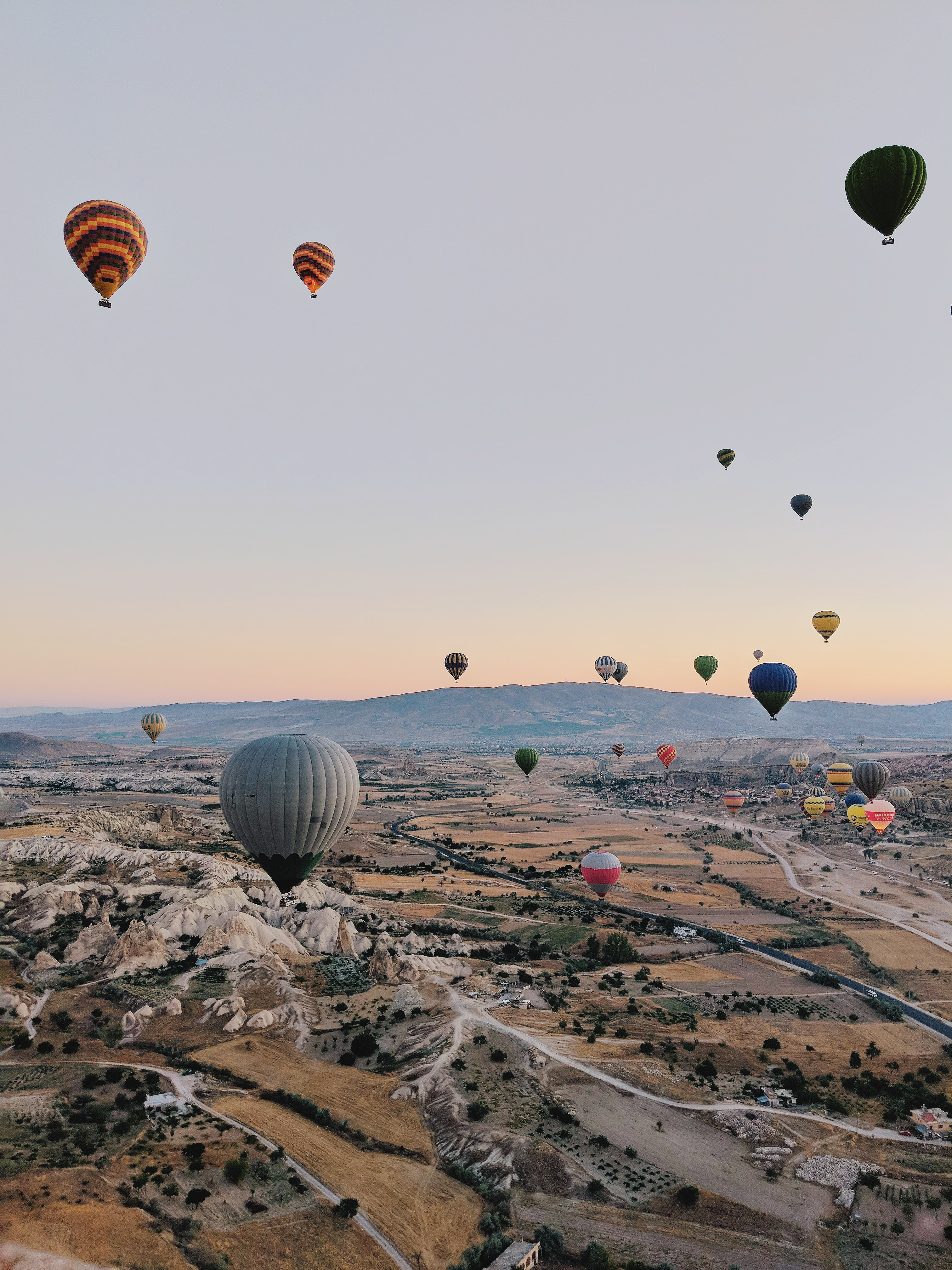hot air balloons floating on air