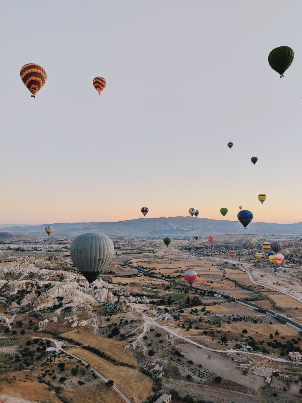 Hot Air Balloons Floating On Air Photo Free Hot Air Balloon