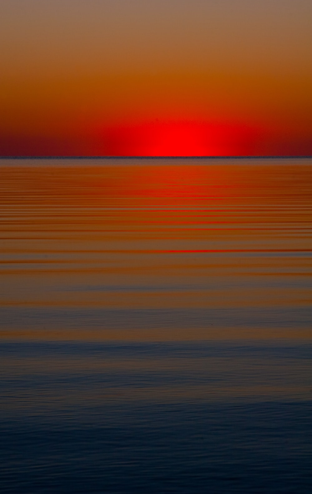 sunset over the ocean waterts