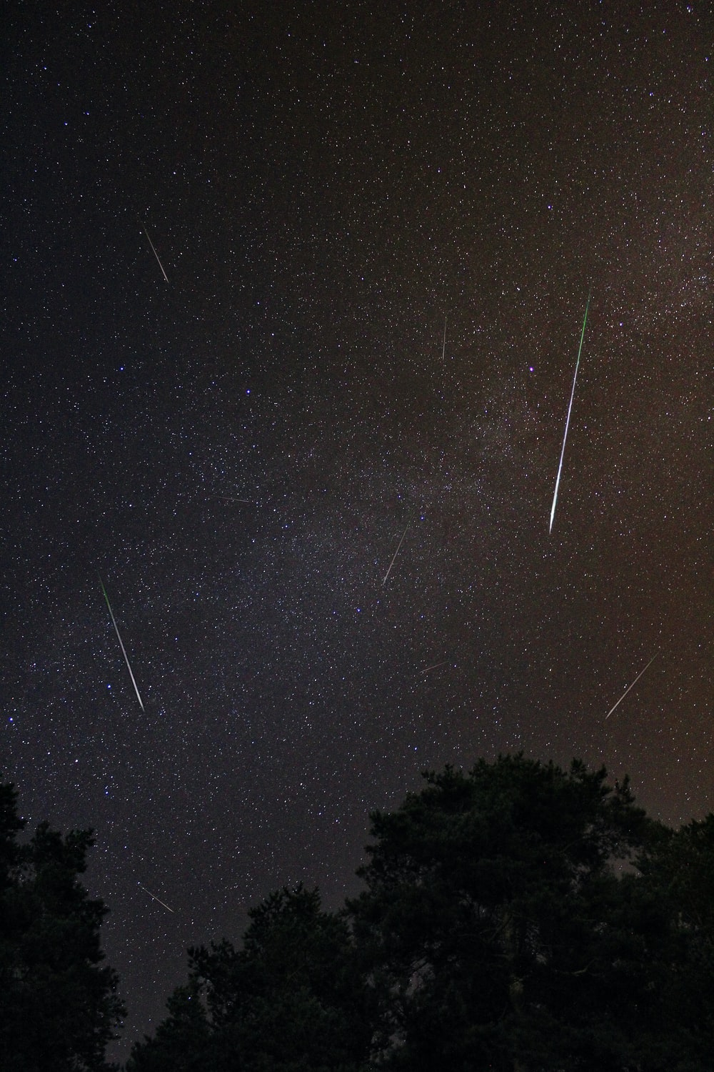 meteor shower on sky during nighttime
