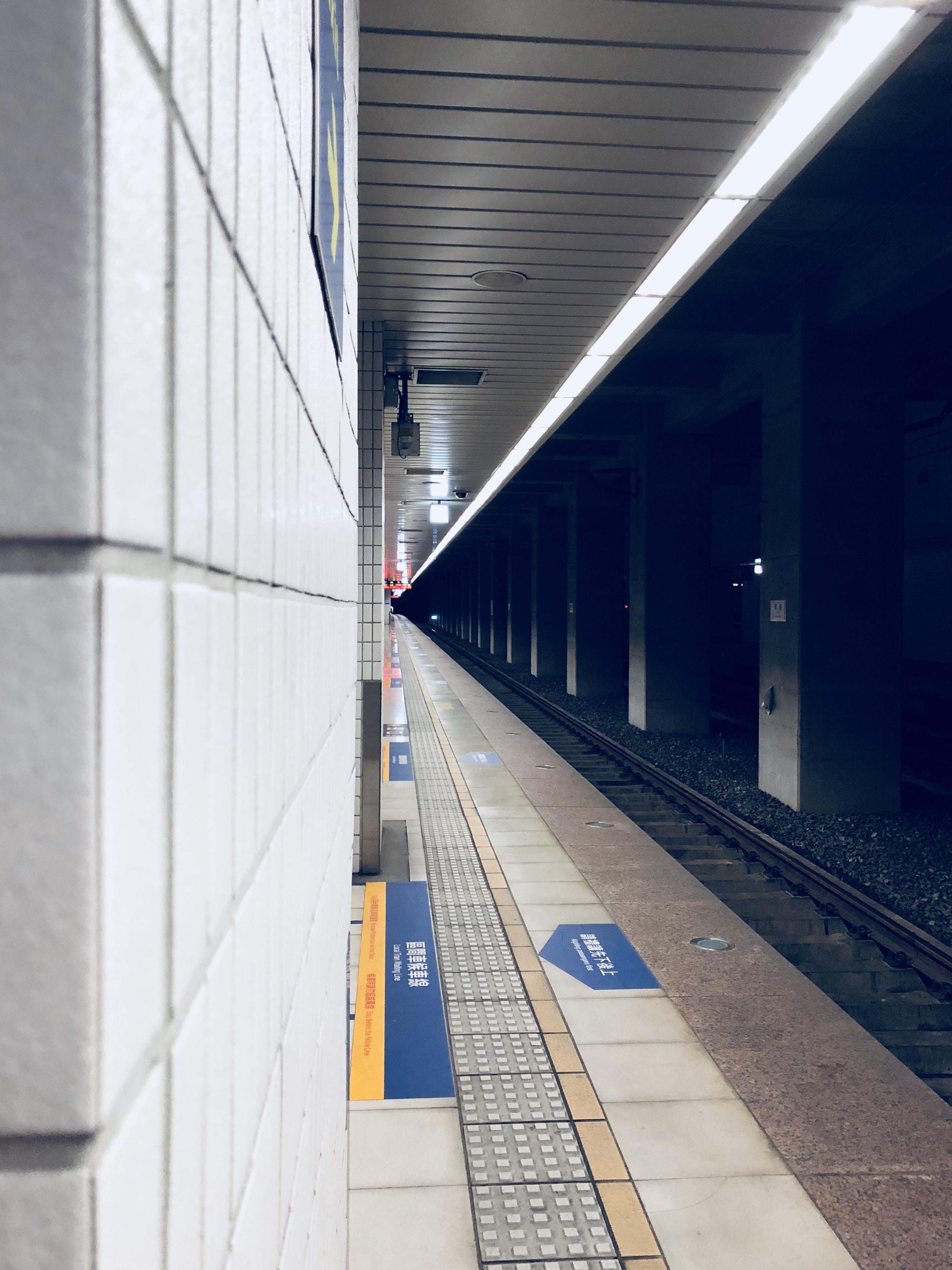 empty train subway