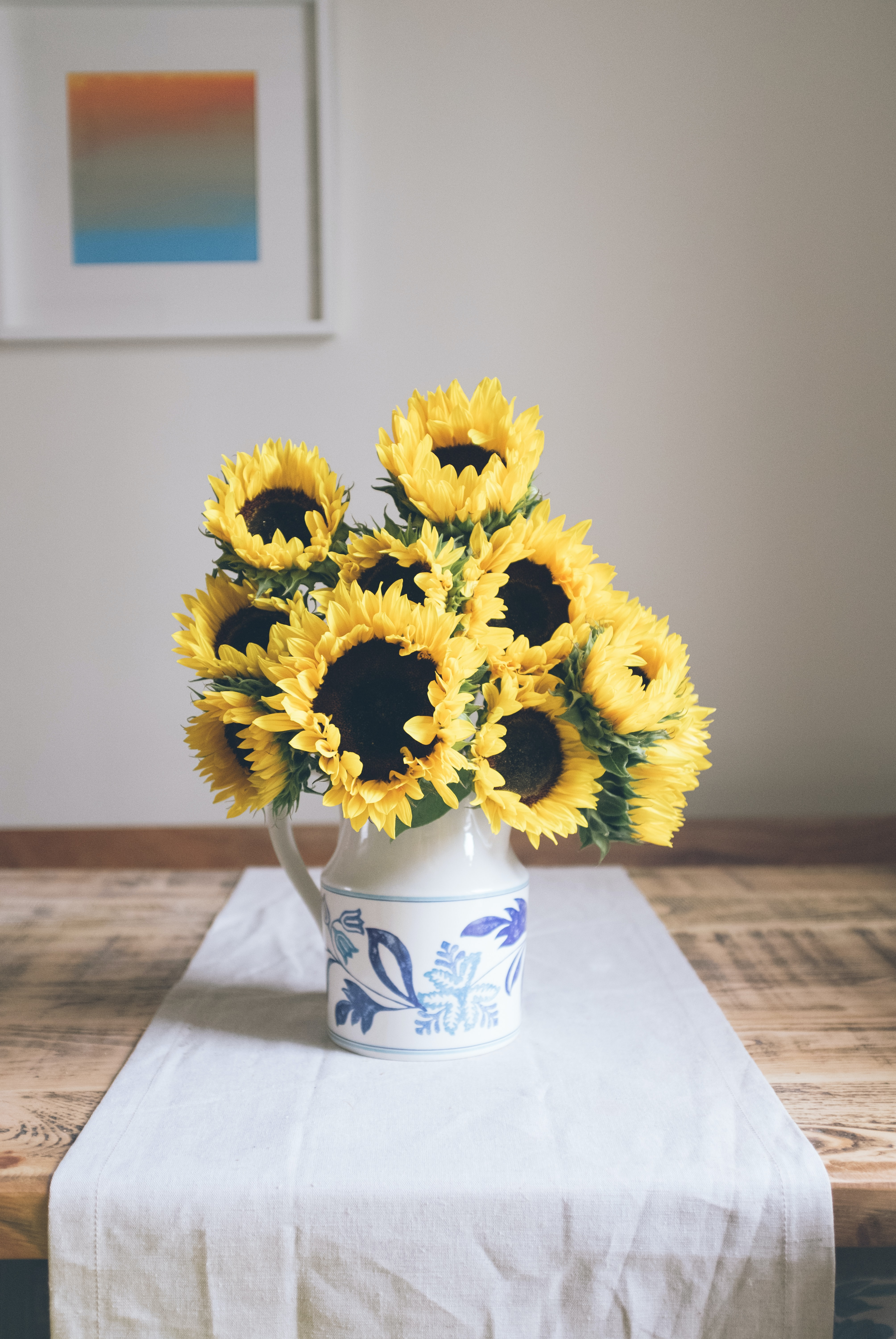 sunflowers table decor