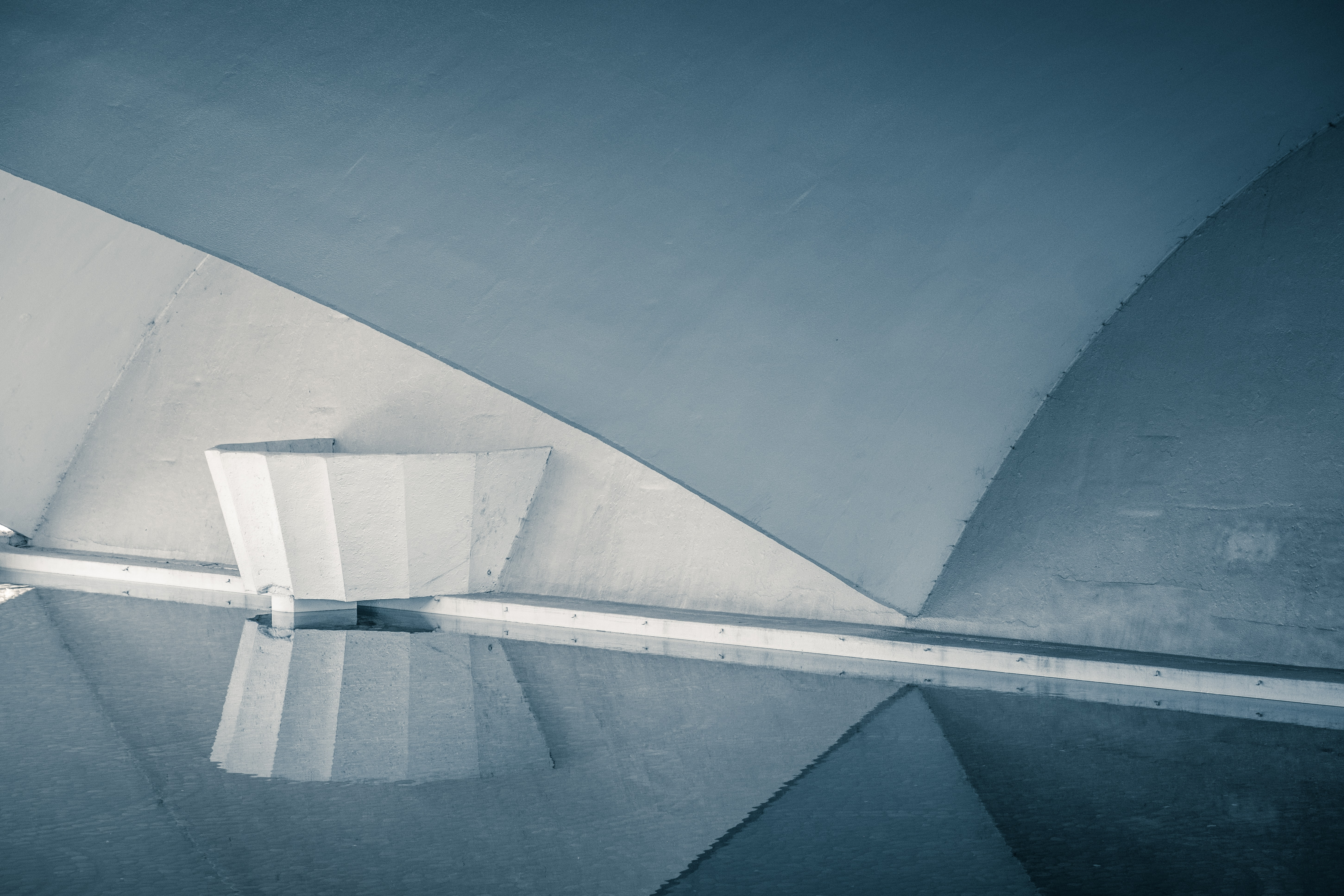 architectural photography of white building interior