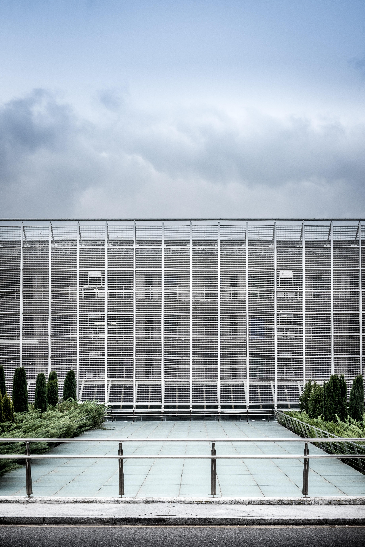 scenery of concrete building