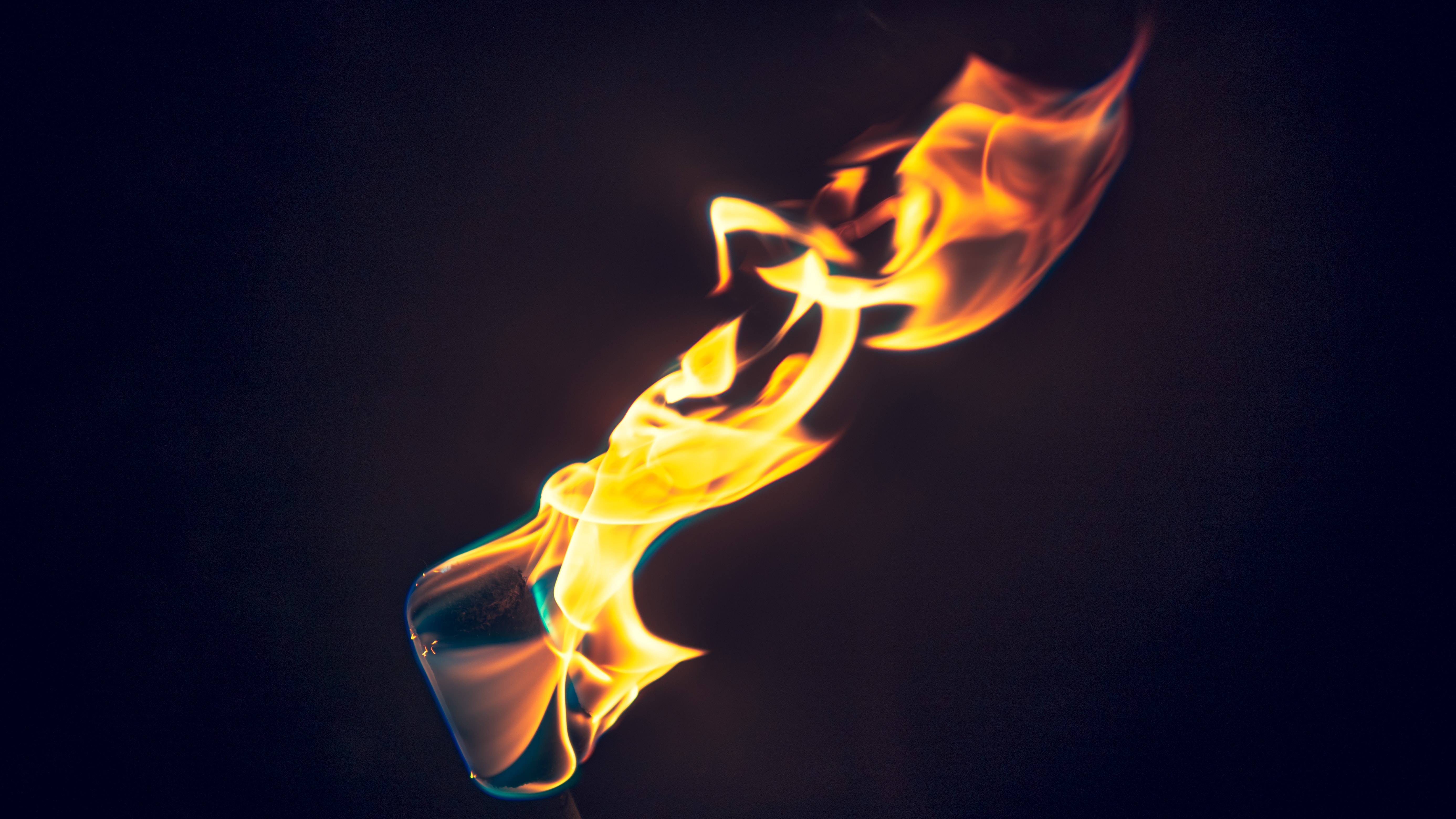 red and yellow flame digital wallpaper