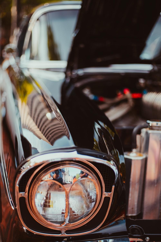 selective photo of black car