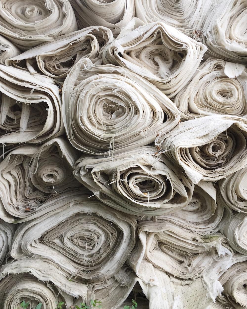 white textile lot