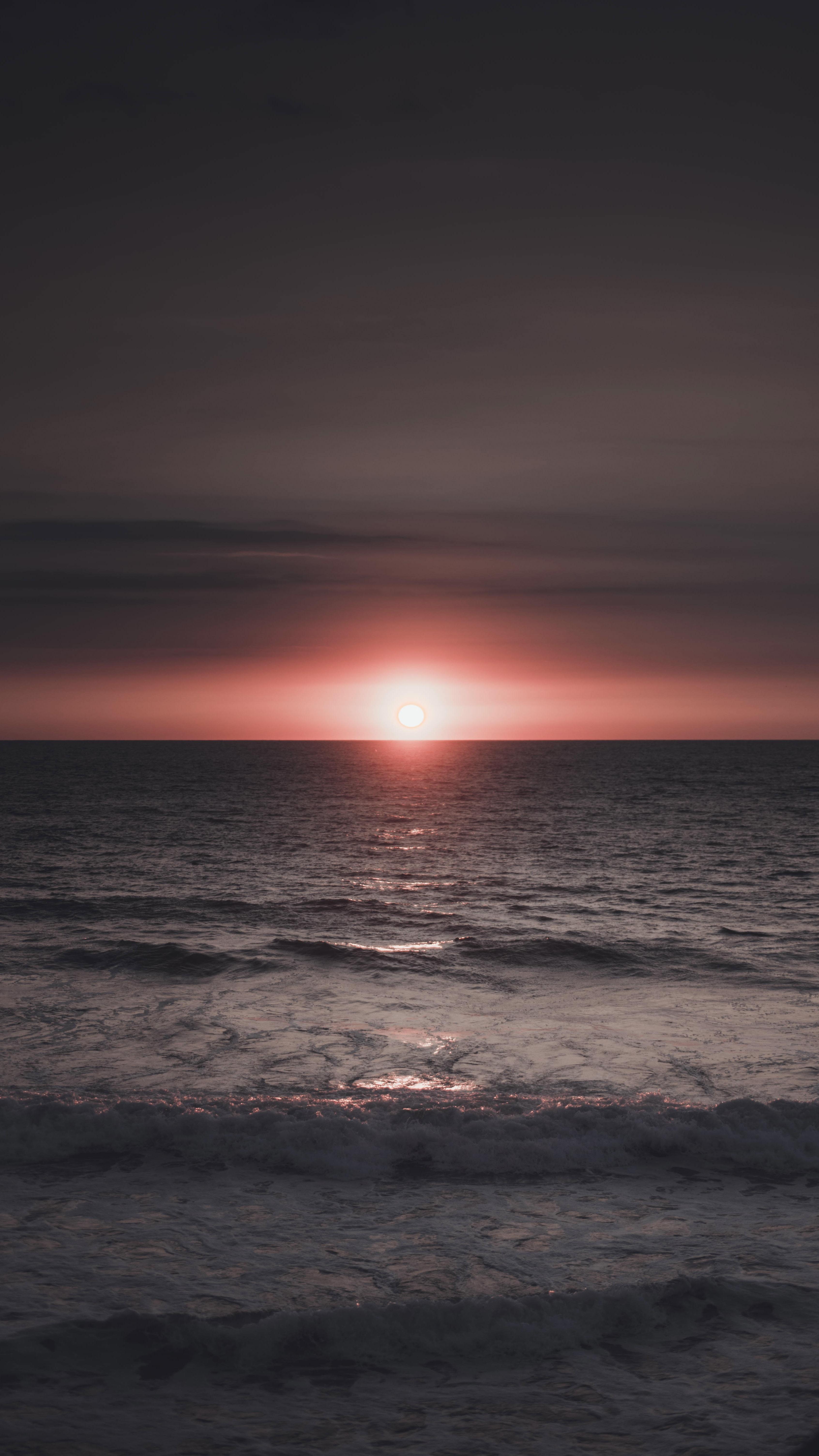 ocean under sunset