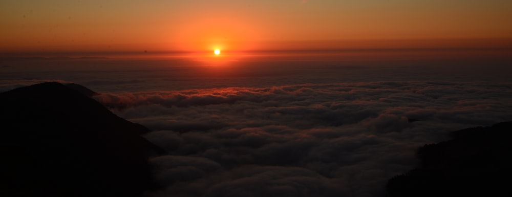 landscape photo of bed of clouds