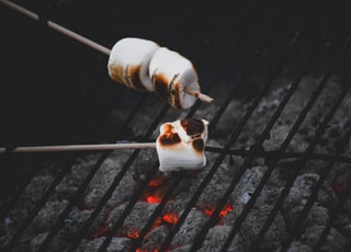 person grilling marshmallows