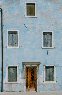 closed windows and door