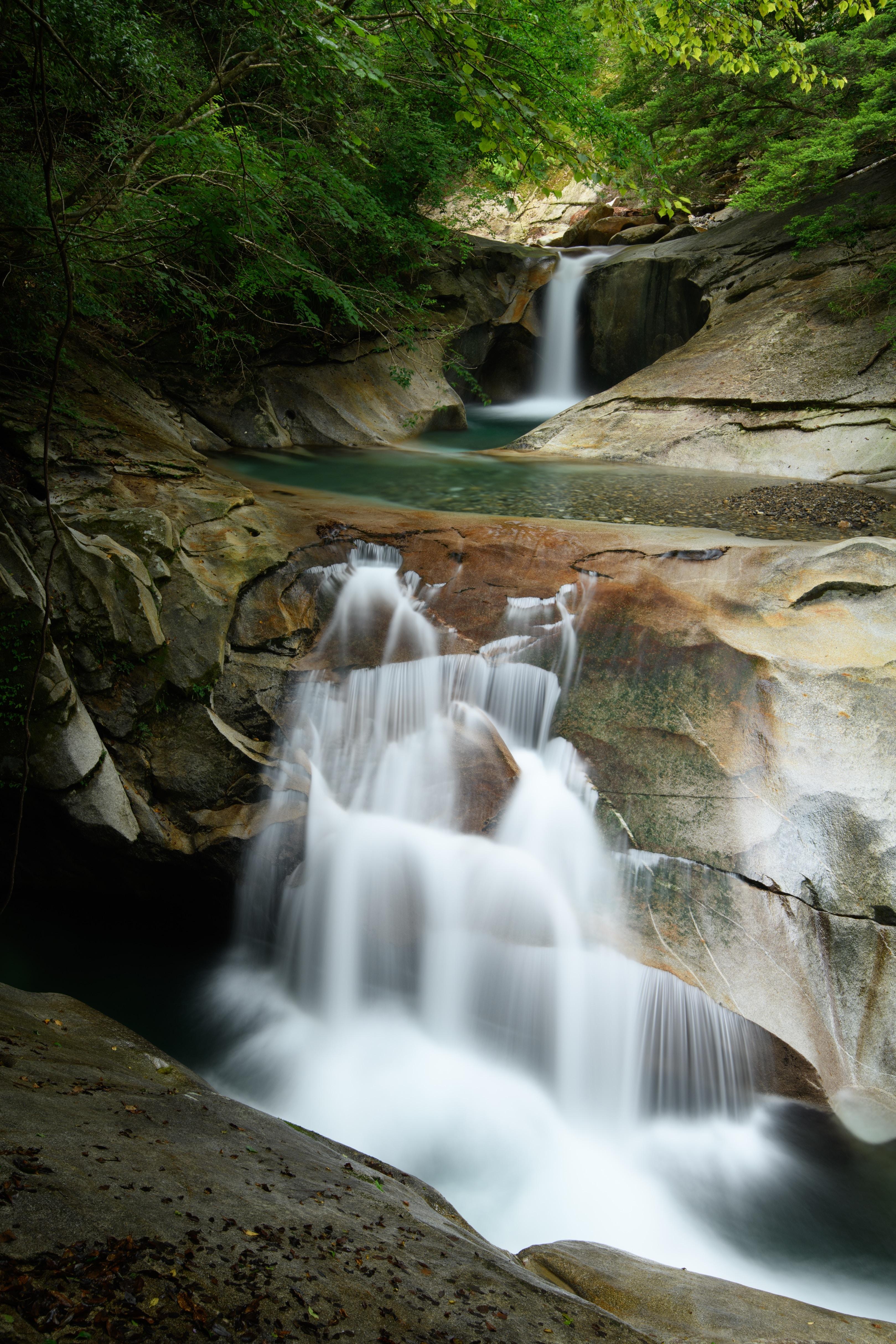 time lapse water falls