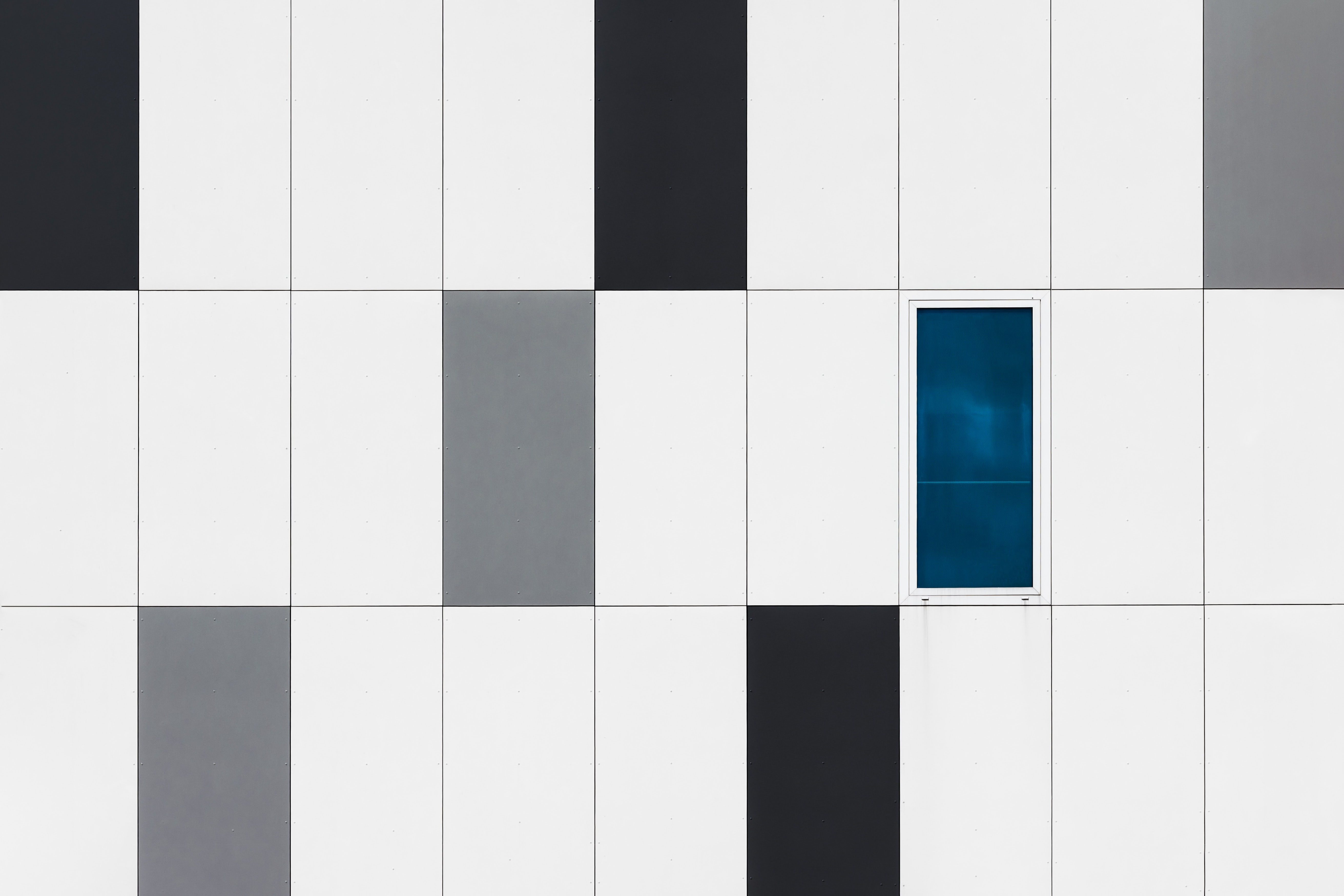 white and black tiles illustration