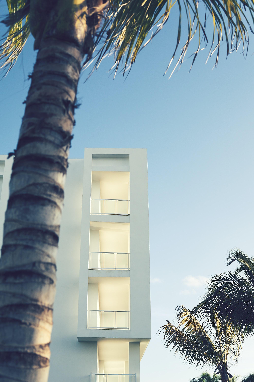 white concrete structure under clear blue sky