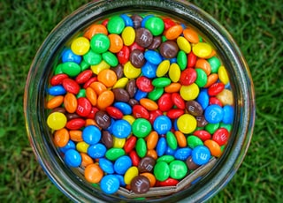 jar of M&M's
