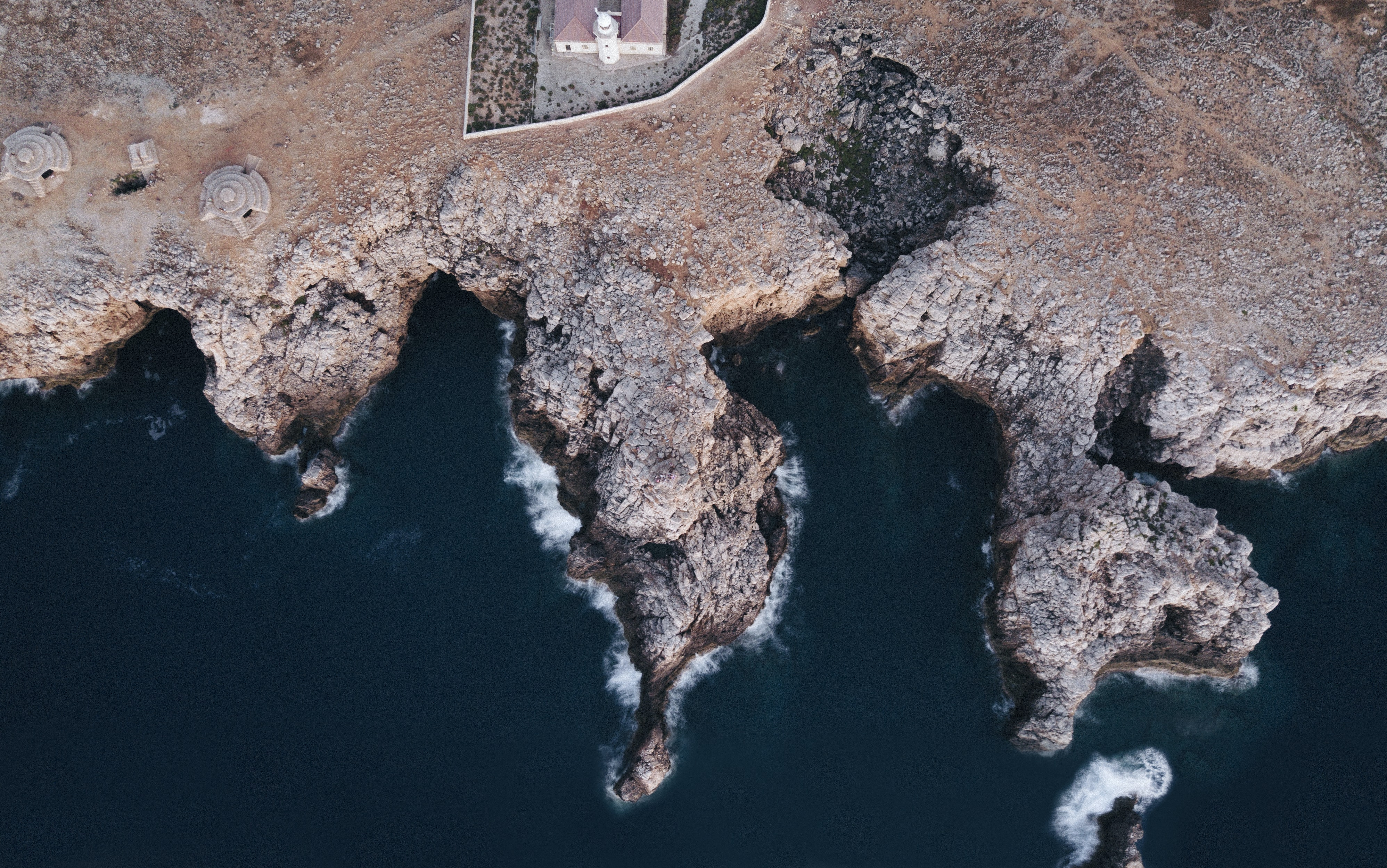 aerial view of body of water beside island