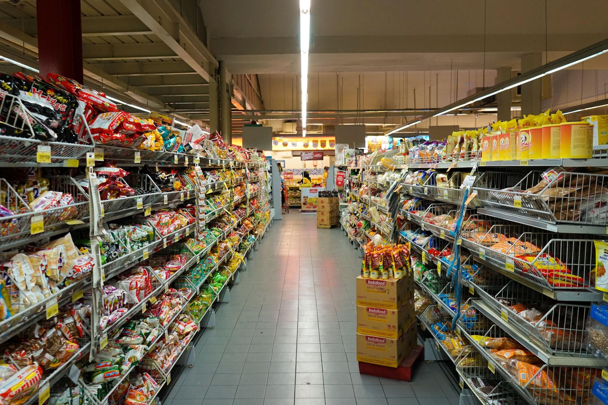 Food Aisle on Supermarket