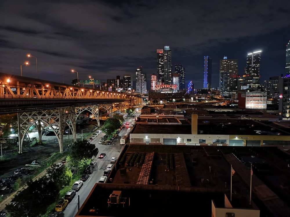 city photo during nighttime