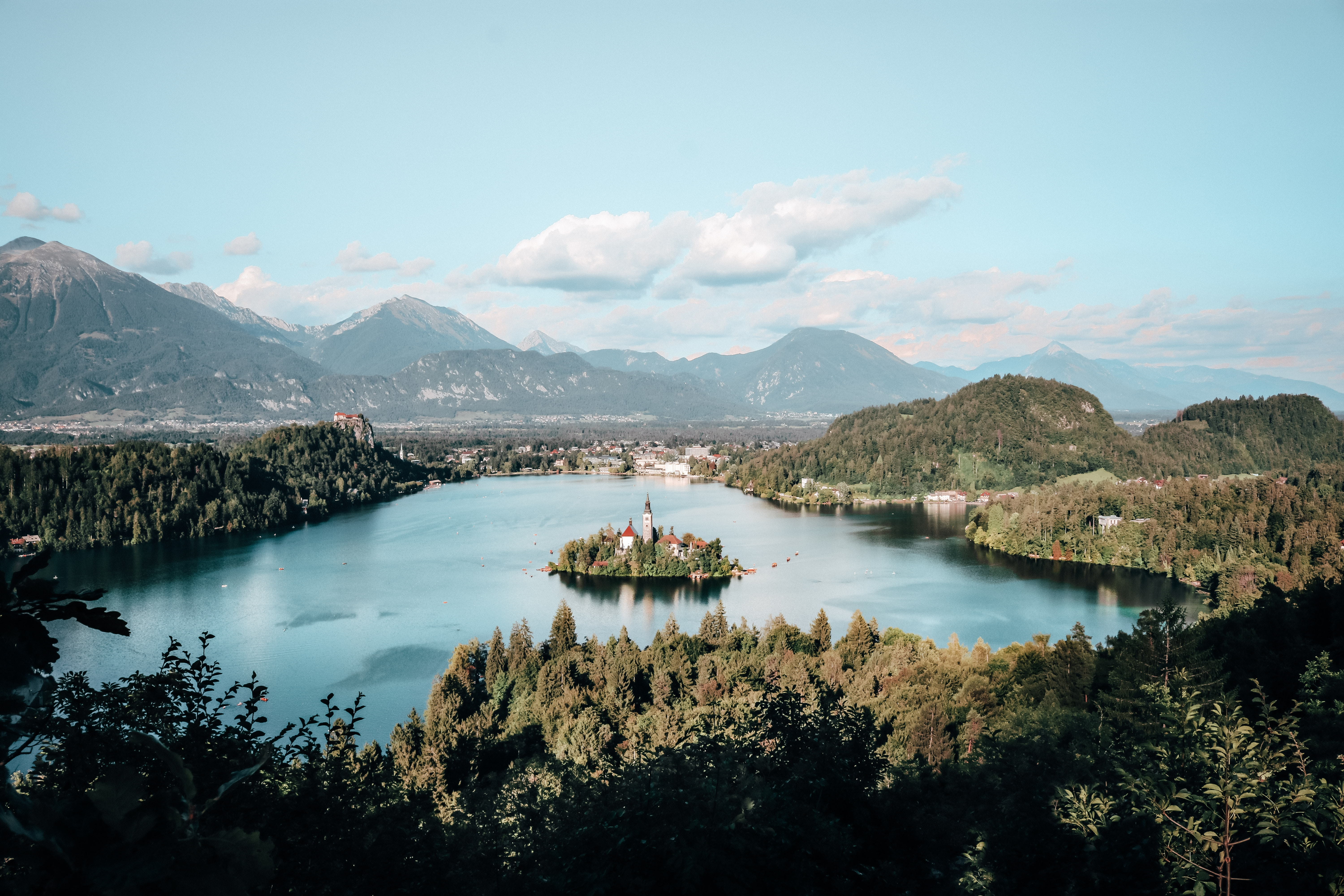 aerial view photography of lake surrounded by trees