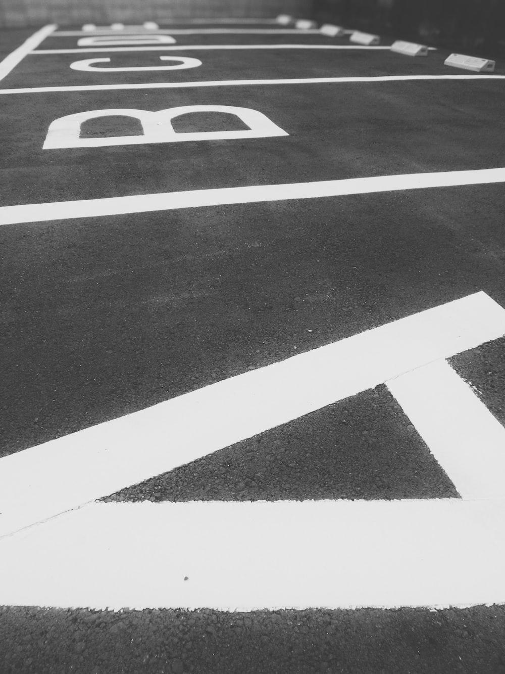 ABCDE parking lot paint
