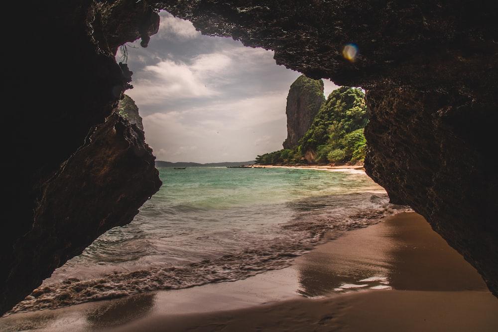 cave near the beach