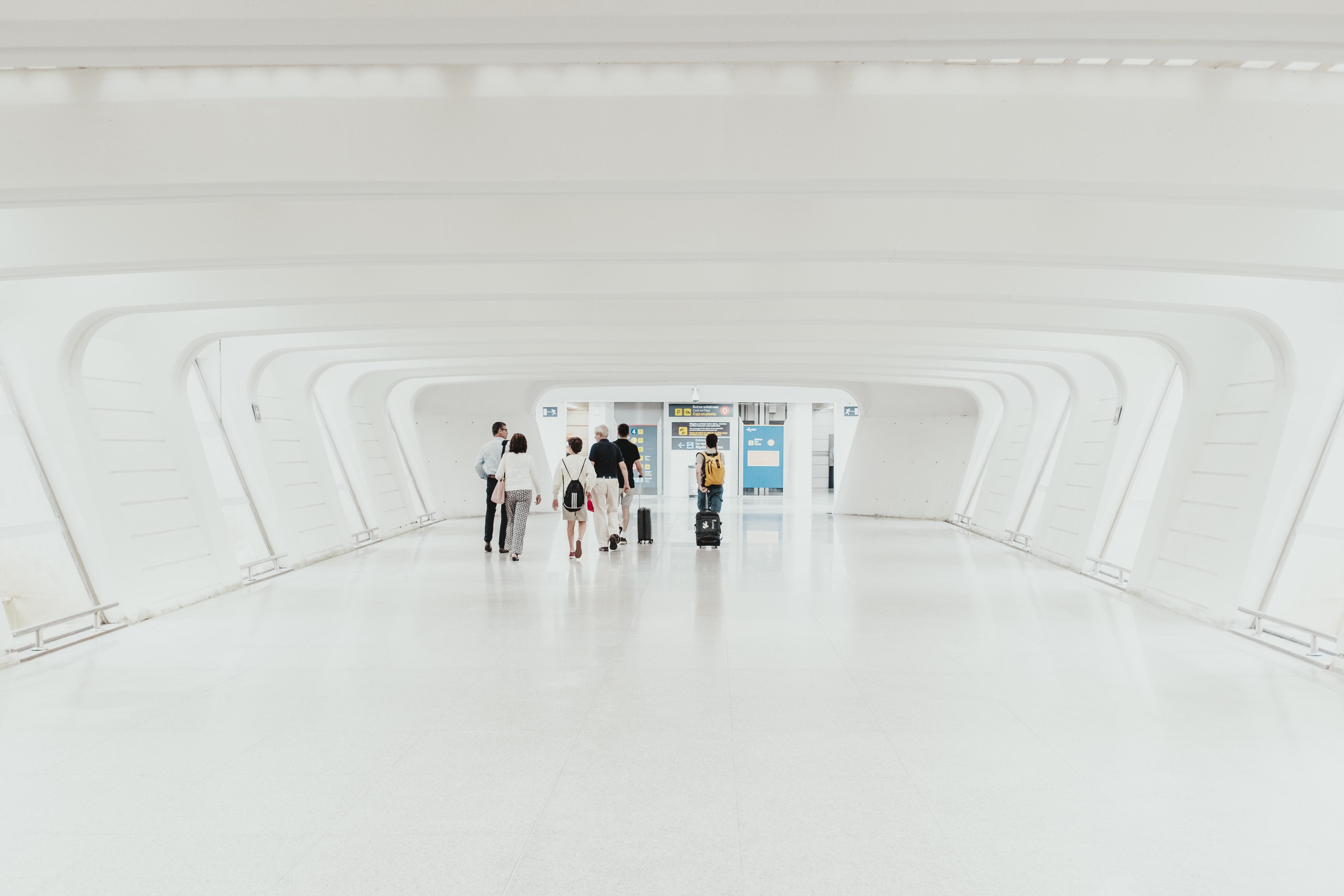 people on hallway