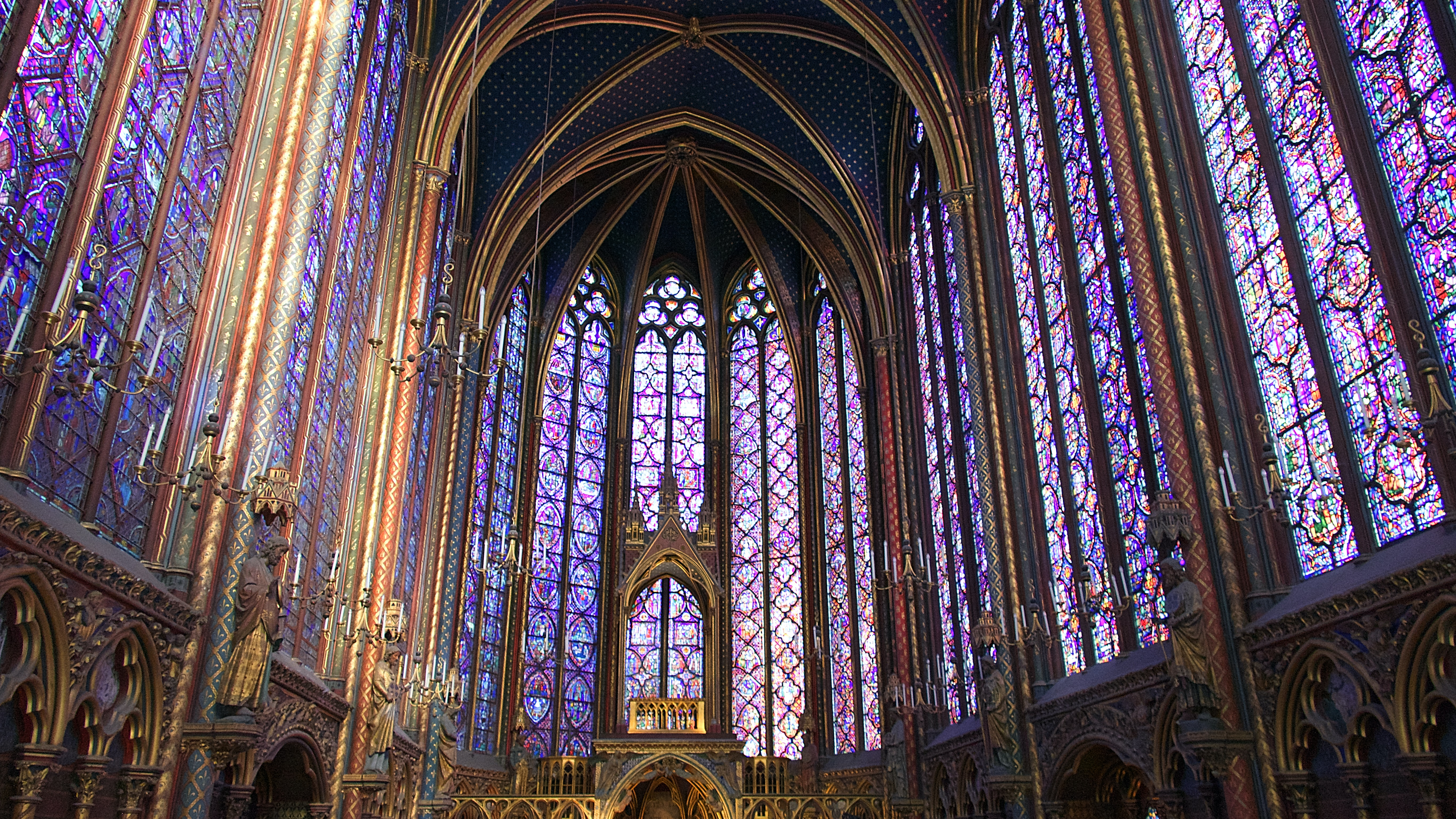 purple and brown cathedral interior