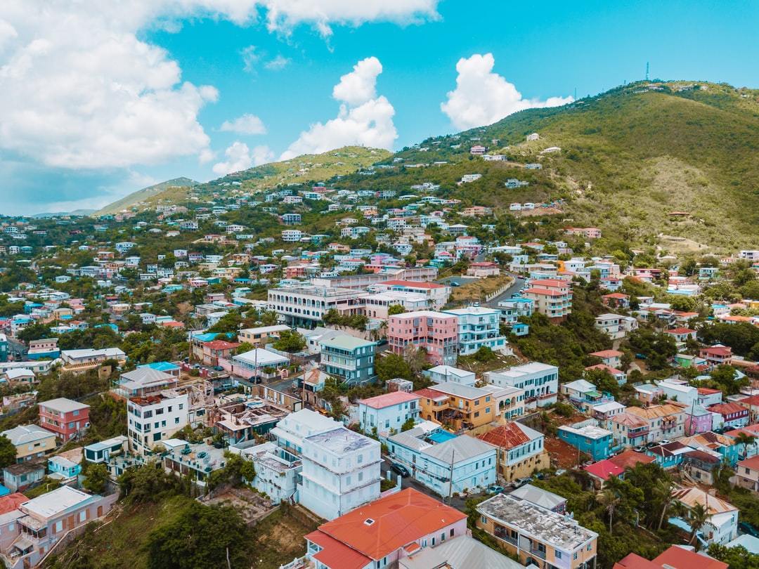 Colorful Houses on St. Thomas Virgin Islands