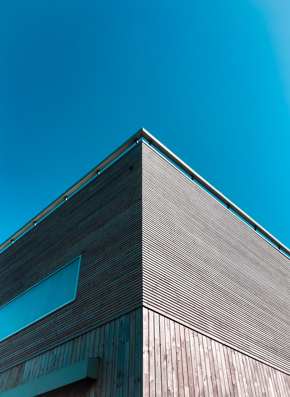 brown plank building