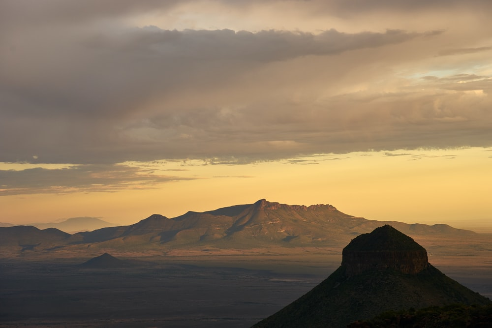 landscape photo of brown mountain