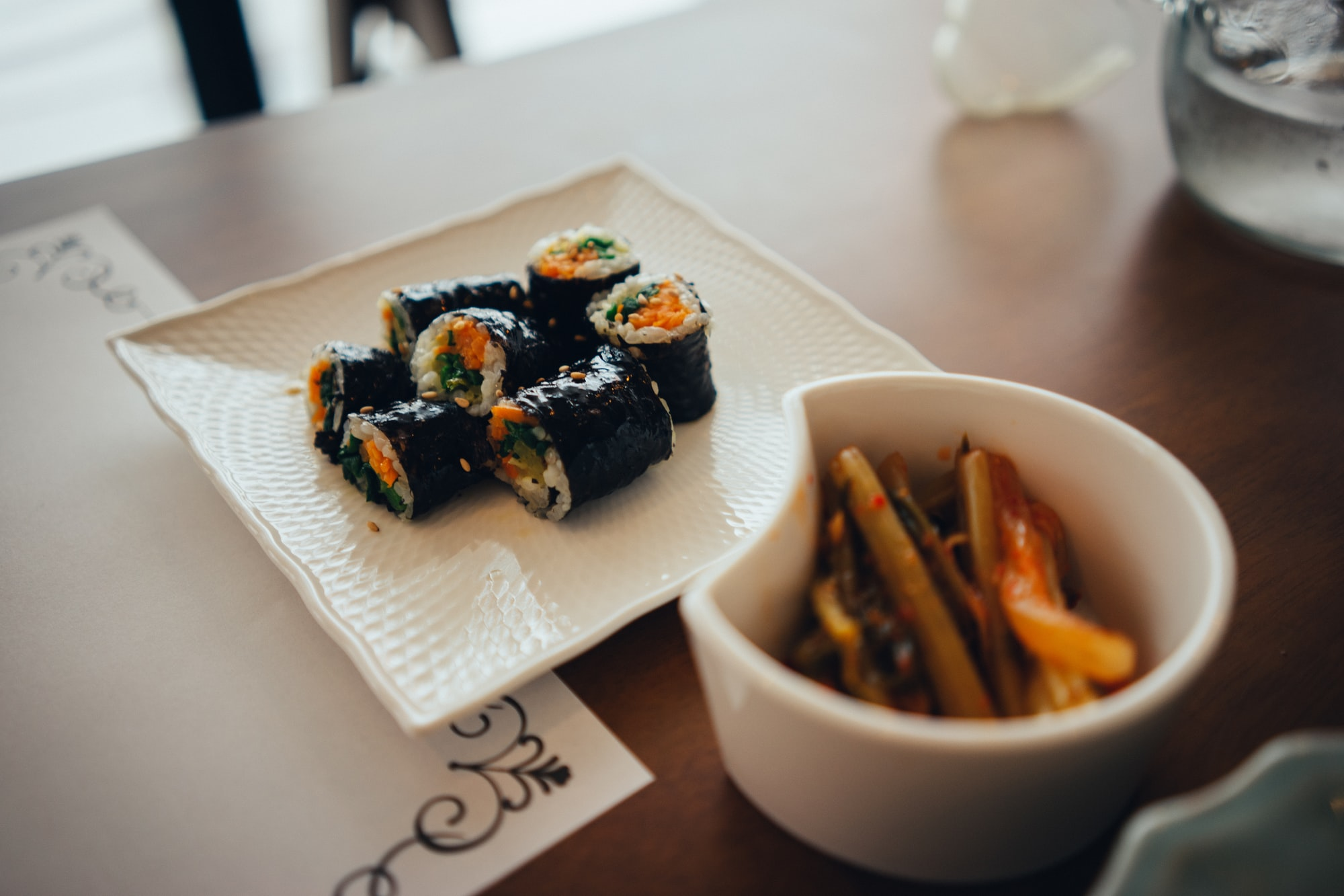 Gimbap is one of the favorite foods of Koreans. It's also a great dish to eat vegetables together. If you are traveling to Korea, try gimbap. You won't regret it.