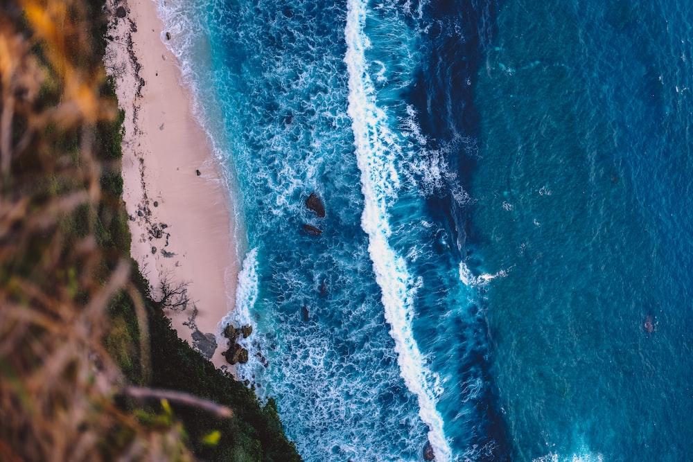 top view of ocean wave